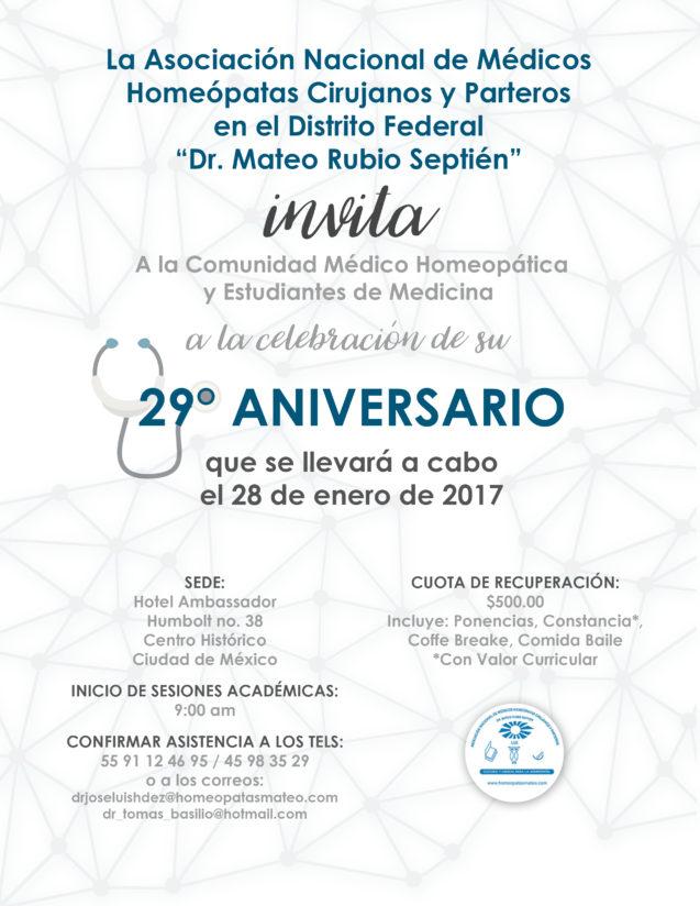 Invitacion al XXVIII Aniversario de la Asociación
